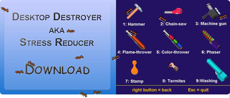 how to get stress reducer desktop destroyer